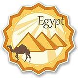 2 x 10cm/100mm Ägypten Vinyl SELBSTKLEBENDE STICKER Aufkleber Laptop reisen Gepäckwagen iPad Zeichen Spaß #4691