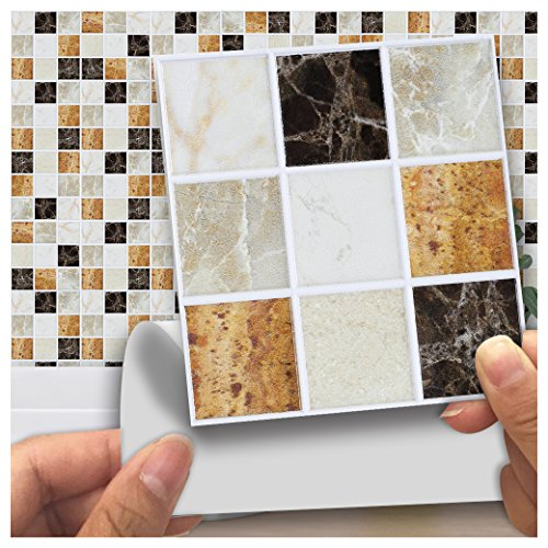Fesselnd HyFanStr Mosaic Peel And Stick Tile Backsplash Wall Sticker Autoadesivo Da  Cucina 18 Pz