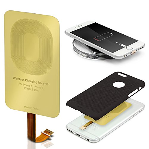 Urcover Wireless Qi Receiver | Lightning Anschluss | Ladeempfänger Charging Receiver Film Empfänger kompatibel mit Apple iPhone 7/8, 7 Plus / 8 Plus, 6s, SE, 6s Plus, 6, 6 Plus, 5, 5s, 5c