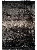 Benuta Shaggy Hochflor Teppich Whisper Anthrazit/Grau 140x200 cm | Langflor Teppich für Schlafzimmer und Wohnzimmer