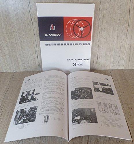 Preisvergleich Produktbild BETRIEBSANLEITUNG für MC CORMICK INTERNATIONAL 323