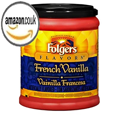 FOLGERS FLAVORS FRENCH VANILLA GROUND COFFEE 1 x 326g TUB AMERICAN IMPORT from FOLGERS