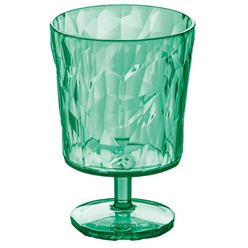 Koziol Glas Crystal 2.0 250ml in transparent/Minze, Kunststoff, Menthe, 6.4x6.4x10 cm