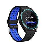 reloj de pulsera inteligente con SIM/TF Card Slot Cámara, podómetro, Touch Screen, Fitness Watch notificaciones llamadas/SMS y WhatsApp para Android iPhone Huawei Samsung ECC, V9