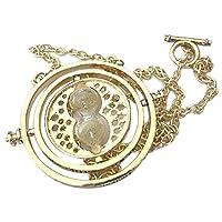 عقد بقلادة مصممة على شكل ساعة زجاجية تايم تيرنر بلون ارجواني مستوحاة من هاري بوتر