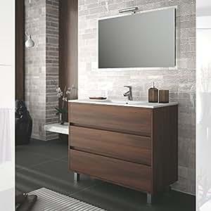 Salgar - Meuble lavabo et vasque - Ensemble complet salle de bain ARENYS 1000 Acacia marron