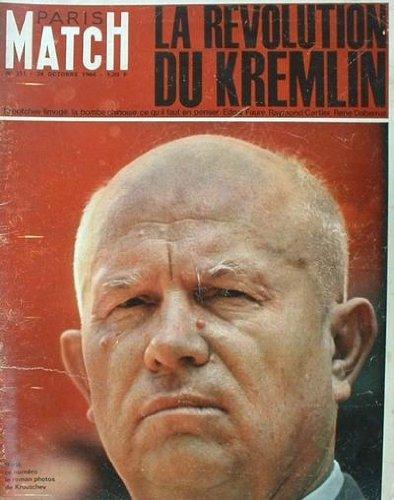 Paris match, n° 811, 24 octobre 1964 : la révolution du kremlin jeux de tokyo péguy le voyant charles aznavour en amérique