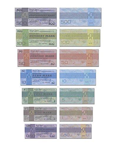 DDR Geldscheine, Forumscheck 0,50 Pf. bis 500 Mark, TOP Reproduktion