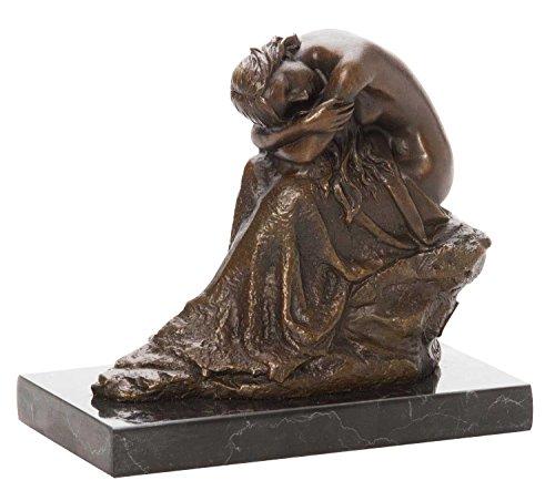 aubaho Bronzeskulptur Frau Erotik Akt erotische Kunst Bronzestatue Bronze Antik-Stil