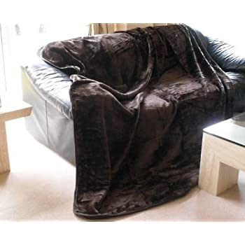 Extra Large Chocolate Brown Bed Sofa Throw 200 X 240 Cm