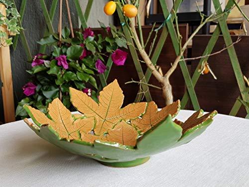 Ciotola di ceramica artistica decorata a mano. centrotavola in ceramica siciliana. regalo. le ceramiche di ketty messina.