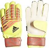 adidas Predator Fingersave Junior Torwarthandschuhe, Yellow/Solar Red/Black, 7