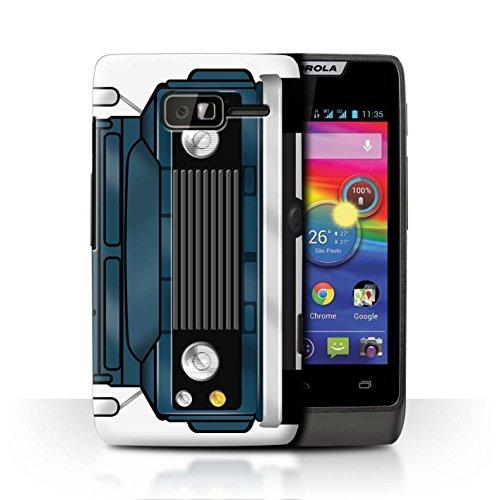 Stuff4® Hülle/Case für Motorola RAZR D1 / Stratos Blau Muster/Klassisch 4x4 Defender Kollektion -
