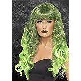 Damas góticas verde sirena rizado peluca