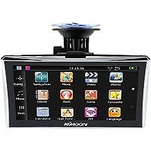 "KKmoon 7"" HD GPS Navegador Portátil (Pantalla Táctil, 128MB RAM, 4GB ROM, FM, MP3, Reproductor Video, Bluetooth, con Soporte Ventosa, Mapa Europea)"