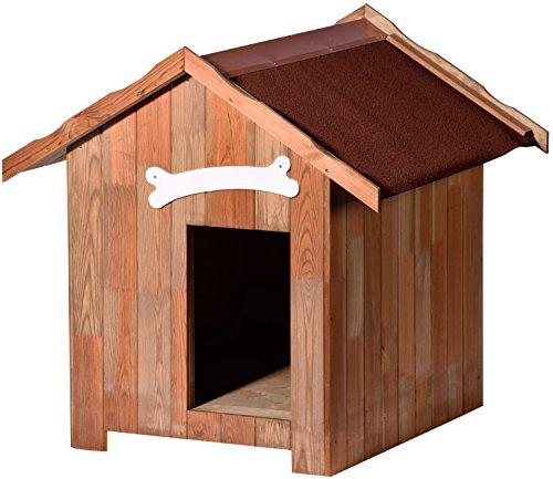 dobar 55021FSC Holz Hundehütte Pluto L, 80 x 60 x 80 cm, 31 kg Holzhütte, Kiefer