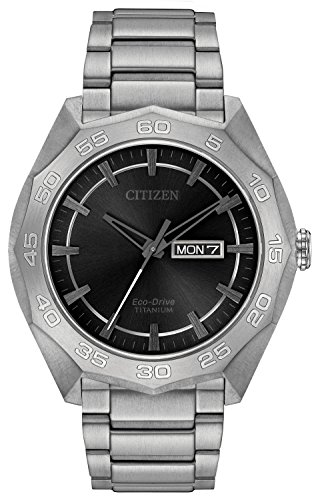 Citizen Watch Men's Analogue Solar Powered Titanium Strap AW0060-54H
