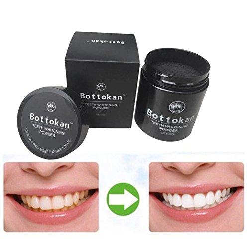 Teeth Whitening Powder, Voberry Natürliche organische Aktivkohle Zahn Zahnaufhellung Bambus Carbon Pulver Zahnpasta (A) - Bambus-pulver