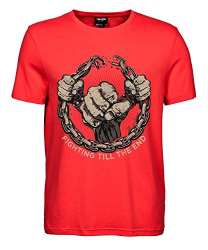 makato Herren T-Shirt Luxury Tee Fighting Coral