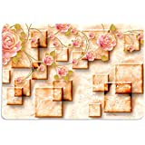Table Mats Set Of 4, 3D Pattern & Roses HD Digital 12 By 18 Inches ( Set Of 4), By Walls And Murals