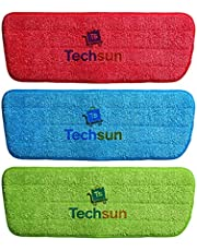 Techsun 3 Pcs Replacement Reusable Microfiber Spray Mop Pad Dust Cleaning Mop Head Cloth Pads Spray Mop Pad