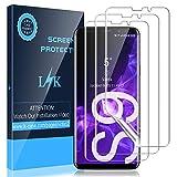 KundL LK [3 Stück] Schutzfolie für Samsung Galaxy S9 Folie, Samsung Galaxy S9 Bildschirmschutzfolie [Volle Abdeckung] [Blasenfreie] Klar HD Weich TPU Folie [Lebenslange Ersatzgarantie]