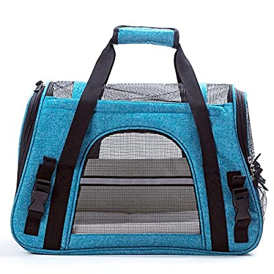 Pet Carrier Sling Bag Pet Carrier Dogs & Cats Carrier Large Foldable Lightweight Collapsible Rabbit Pet Travel Carrier by LIUXING