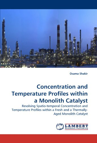 Concentration and Temperature Profiles Within a Monolith Catalyst
