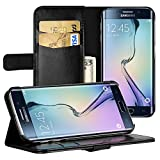 Galaxy S6 Edge Cover, EasyAcc S6 Edge Leather Wallet Case