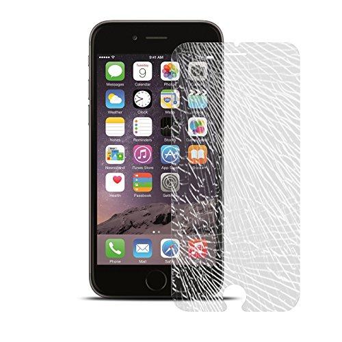 iPhone 6S, 6 Schutz Set, Conie Mobile Set [1x Silikon Hülle + 1x Displayschutzfolie] Backcover Schutzhülle und Panzerglas Schutzfolie Anti Fingerabdruck Transparent