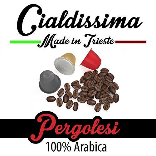 """cialdissima 100 Kapseln Nespresso Kompatibel, Pergolesi, 100{67e6cb9435179b6c6795facca105d85b5c52b96674e9427327d06ed094d13ad1} Arabica, Espresso Italiano - \""""Le Arabiche\"""""""