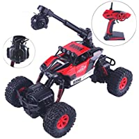 Crazepony-UK Crazon RC Car with FPV Camera and Led Light,Remote Control Car RTR Waterproof Off Road Electric RC Cars 1:16 Scale 2.4Ghz 4WD / 2WD High Speed RC Trucks,WiFi FPV 0.3MP Camera Cars by