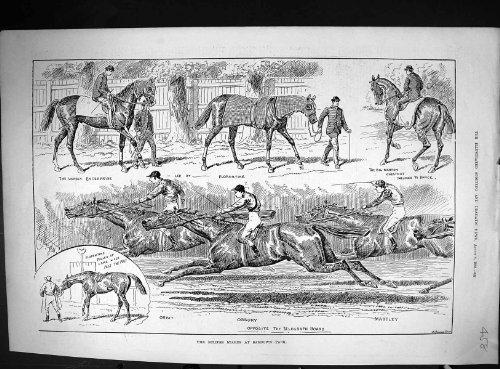 Bahn-Unternehmen 1888 Eklipse-Stangen Sandown-Park-Pferderennen Ossory Martley