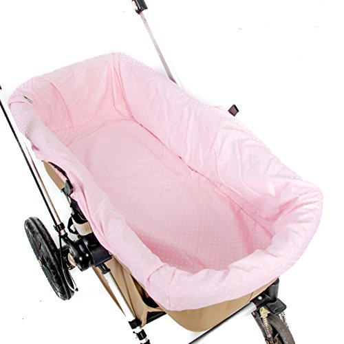 Funda Capazo Especial para Bugaboo Color Topitos rosa de Pique de canutillo