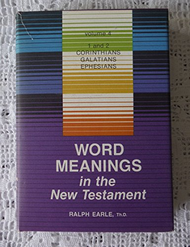 Title: Word Meanings in the New Testament Volume 4 Corint