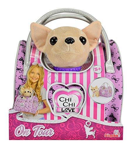 Simba 105892276 - Chi Chi Love Plüschhund 20 cm mit Reisetasche (Was Ist Chi)