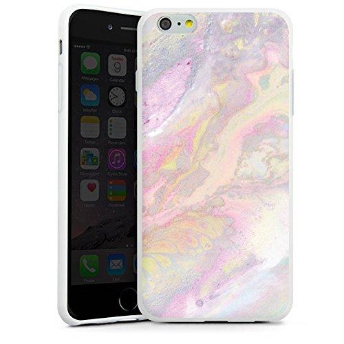 Apple iPhone 4s Silikon Hülle Case Schutzhülle Wasserfarben Muster Pastell Silikon Case weiß