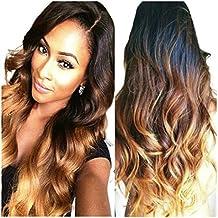 Obzer USA® Alta Calidad Extensiones de Pelo Peinados Pelucas Pelo Salon Peluca sintética de pelo Extensiones de cabello pelo ondulado