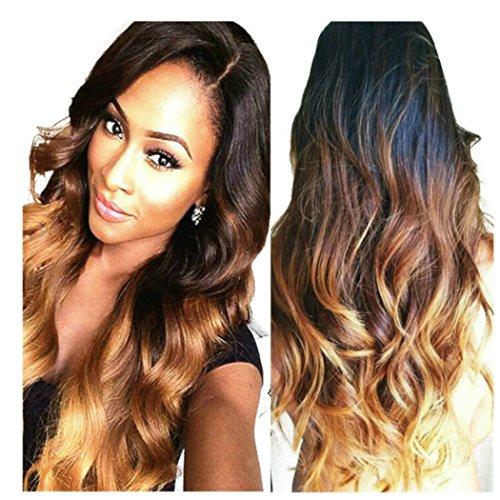 Obzer USA® Ombre perücke Haar Extension haarverlängerung haarteile Haar synthetische perücken (Synthetische Perücke)