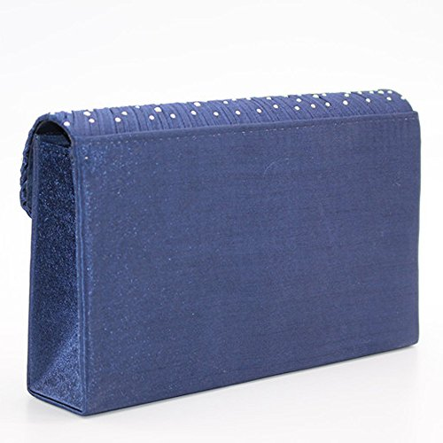 8855baca13061 Damen Diamant Abendtasche Frauen Handtasche Clutch Bag Party Envelope Bag  Henkeltasche Navy ...