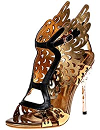 LLP Damen Super High Heel Damen High Heels Damen Sandalen Fein mit Sandalen  Hollow Gold Workplace d08f83ef48