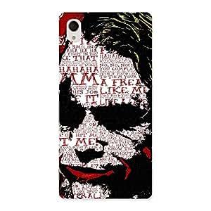 Premier Psyco Typo Designer Back Case Cover for Sony Xperia M4