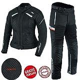 BOSmoto Touren Motorrad Kombi Motorradjacke Textil schwarz (M)