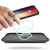 ACTOPP 3 Spulen 10W Qi Ladegerät Fast Wireless Charger KFZ Schnellladegerät Ladestation für iPhone X 8 8 Plus Samsung Galaxy S8 S8 Plus S7 S6 Edge Note 5 & Alle Qi Geräte IP67 Wasserdicht