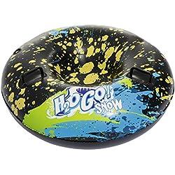 Bestway H2OGO! Snow Frostblitz 99 x 99 x 35 cm, luge gonflable multicolore au design léger et peu encombrant