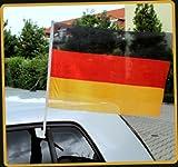 Autofahne Autoflagge WM EM Fußball Fahne 30x45cm Deutschland 2 Stück