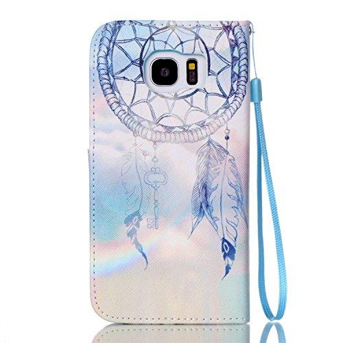 Galaxy S7 Edge Hülle, Folio Cover Wallet im Bookstyle mit Standfunktion Karteneinschub und Magnetverschluß Etui für Samsung Galaxy S7 Edge Dreamnet