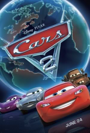 Disney Cars 2 - Movie Wall Art Poster Print - 43cm x 61cm / 17 Inches x 24 Inches A2 Lightning McQueen (Movie 2 Cars Poster)