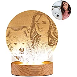 LED Nuit Lumières Personnalisé Photo Lampe de Table USB Charge Chambre Bureau Décor pour Enfants Adultes Cadeau De Noël