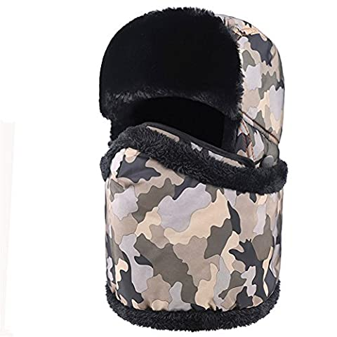 Z de p Unisexe Athletic & Outdoor Clothing Skiing & Snowboard Keep chaud coupe-vent Masque de Proof Cold Water Proof de earflaps Necker Chief A en hiver taille unique Yellow camouflage